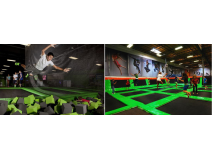 Indoor Trampoline Park Keeps Children Away From Anger