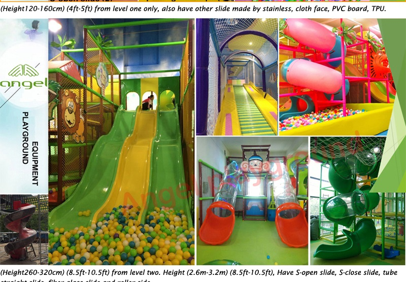 slide use on indoor play equipment
