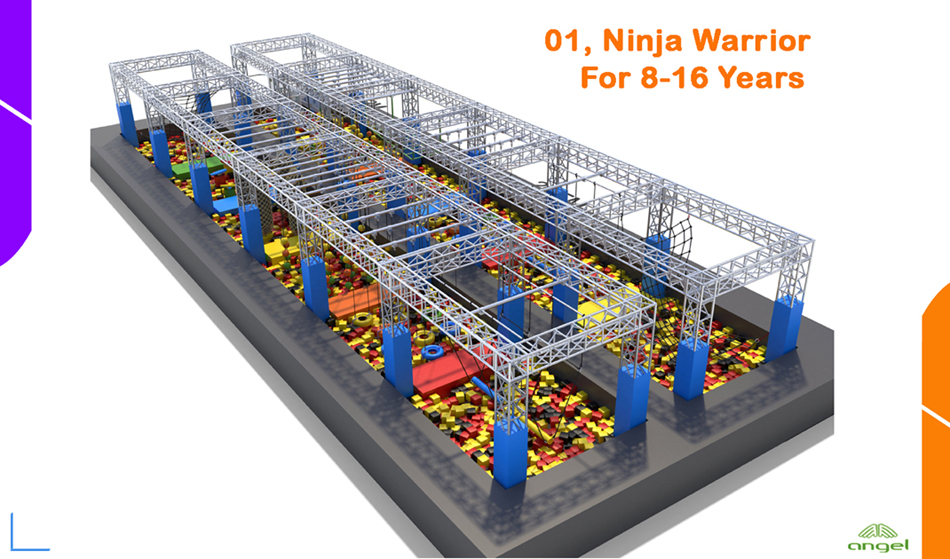 Ninja warrior for 8-16 years old