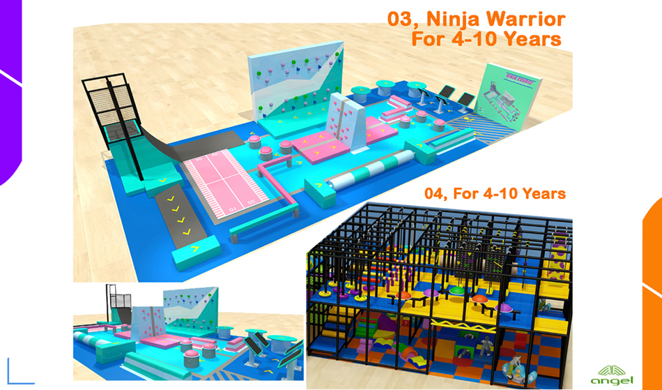 Ninja warrior for 4-10 years old