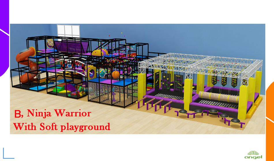 Ninja warrior with soft playground